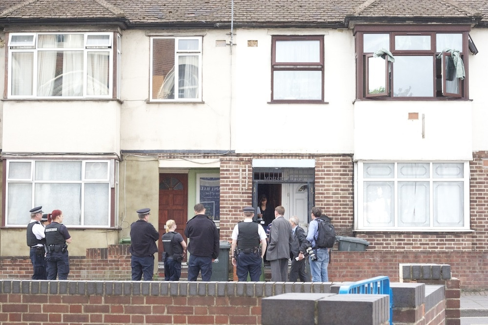 Immigration officers raiding homes
