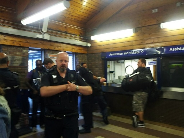 Immigration officers seeking illegal immigrants at underground station